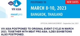 VIV ASIA POSTPONED TO ORIGINAL EVENT CYCLE IN MARCH 2023